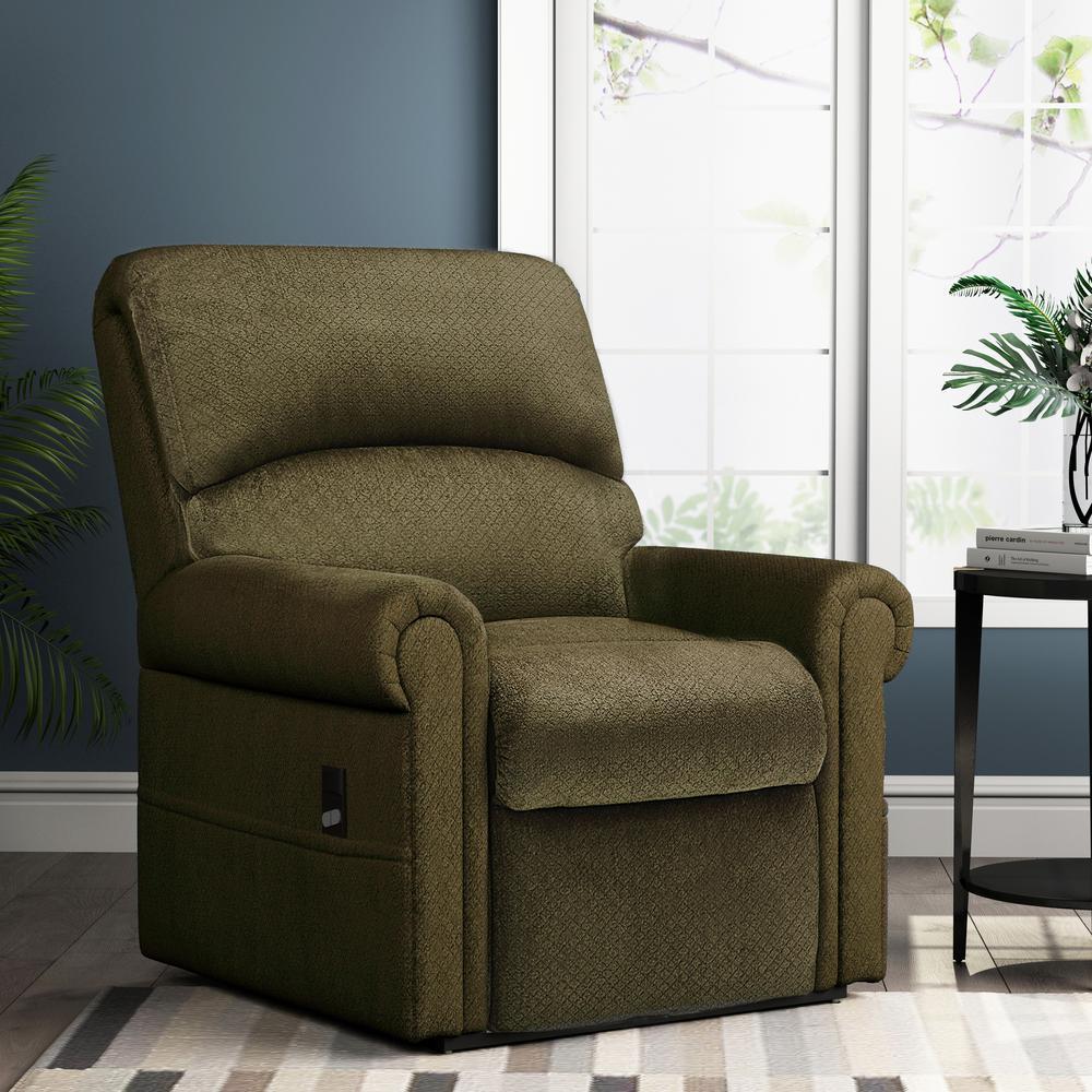 Green Gel Memory Foam Power Lift Recliner Chair