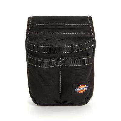 4-Pocket Tool Belt Pouch / Cell Phone Holder in Black
