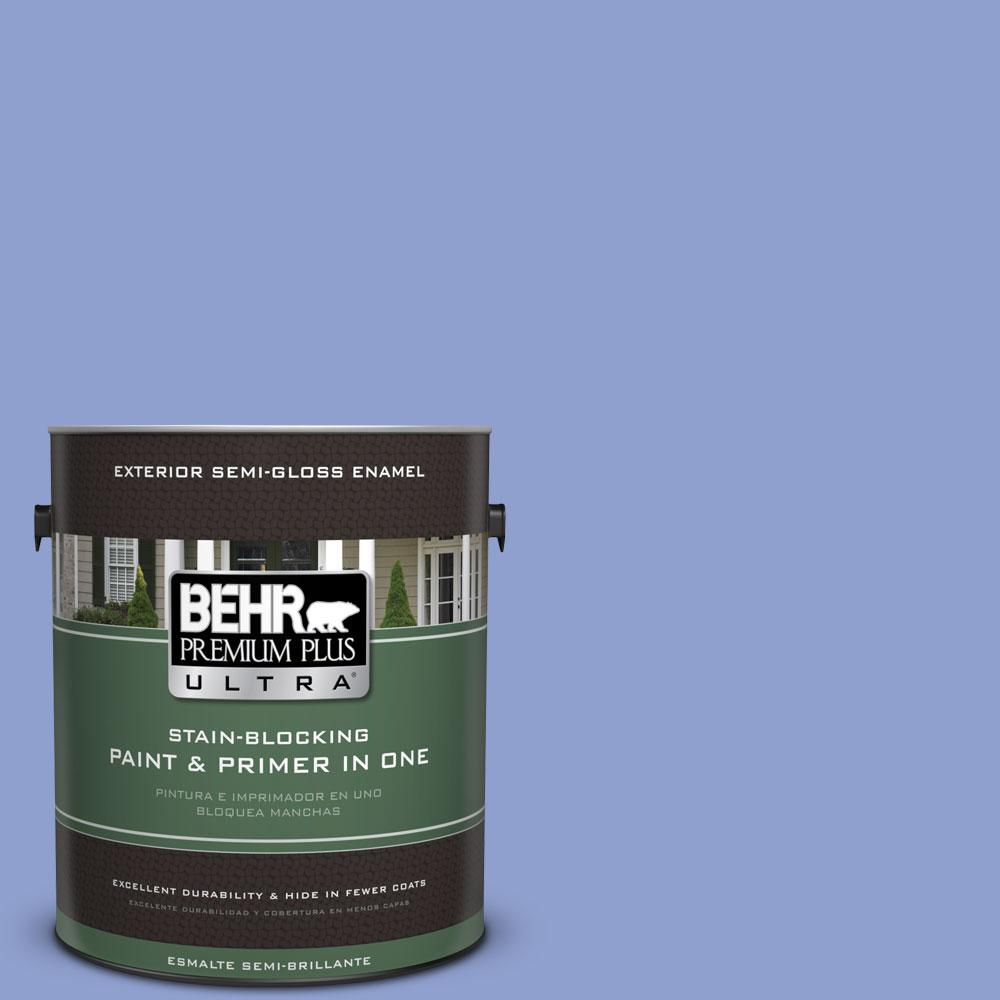 BEHR Premium Plus Ultra 1-gal. #600B-4 Pageant Song Semi-Gloss Enamel Exterior Paint