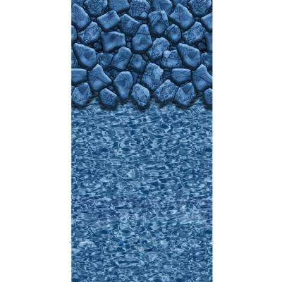 Boulder Swirl 52 in. Deep 24 ft. Round Beaded Pool Liner