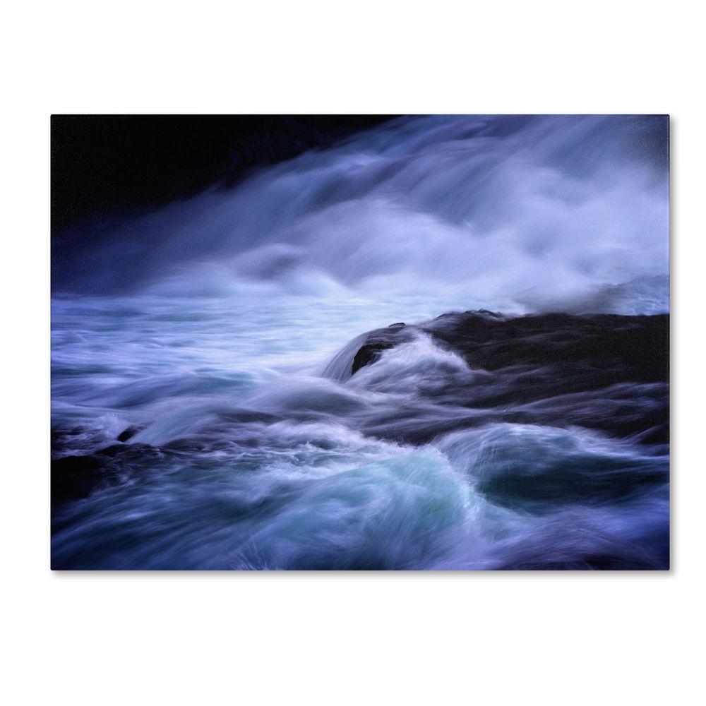 14 in. x 19 in. Blue Stream Canvas Art