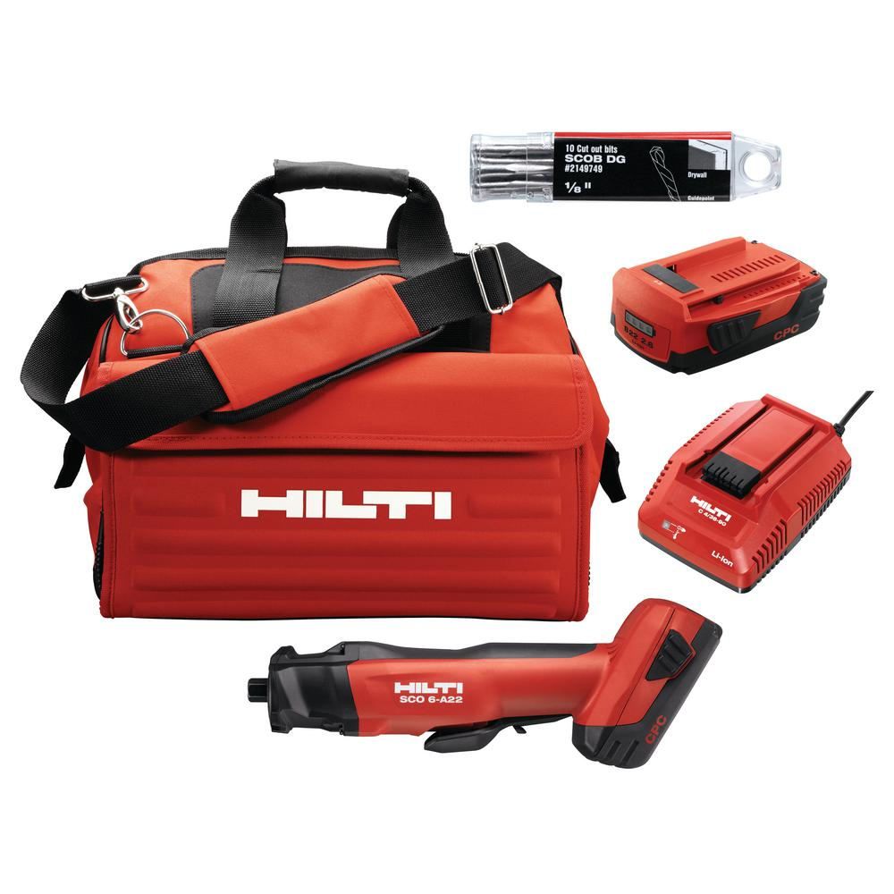 Hilti 22 Volt Lithium Ion Cordless Brushless Sco 6 Cut Out Tool Kit 3551242 The Home Depot
