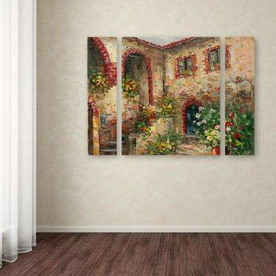 "24 in. x 32 in. ""Tuscany Courtyard"" by Rio Printed Canvas Wall Art"