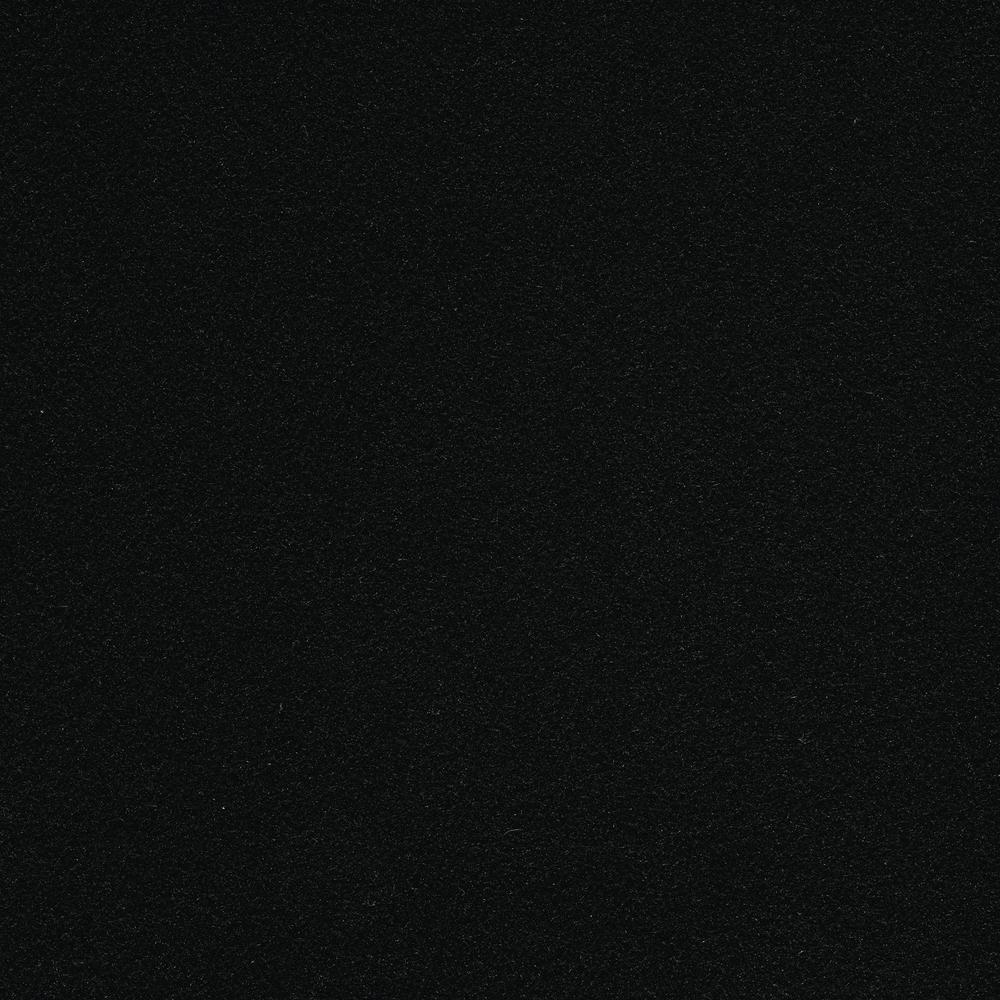 Seafront - Color Black Indoor/Outdoor 6 ft. Marine Texture Carpet