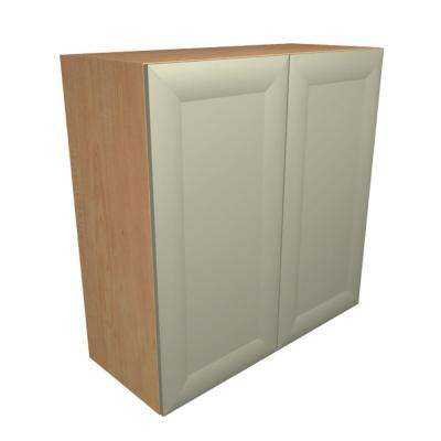 Dolomiti Ready to Assemble 36 x 30 x 12 in. Wall Cabinet with 2 Soft Close Doors in Almond