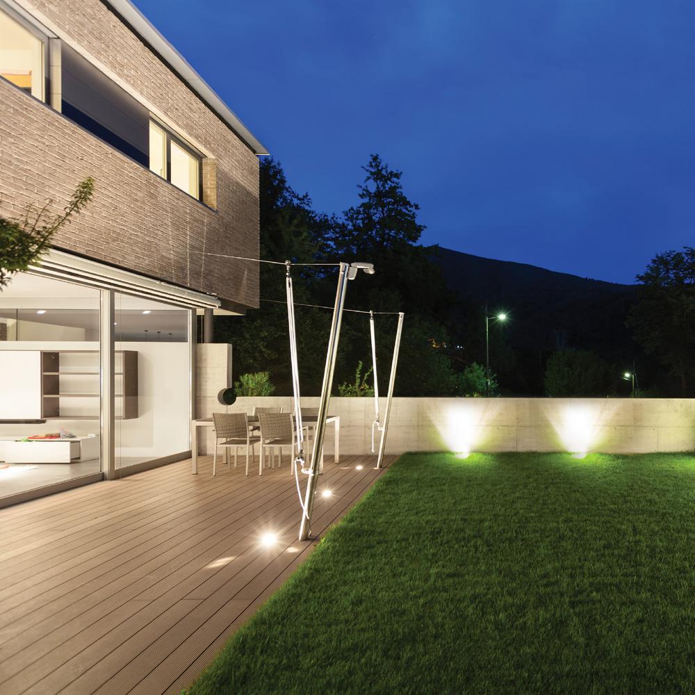Set of 2 Modern Exterior Wall Lights stainless steel weatherproof Landscaping