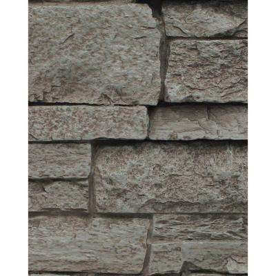 Gray Rock 8 in. x 8 in. x 3/4 in. Faux Mountain Ledge Stone Sample