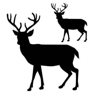 picture relating to Free Printable Deer Stencils named Buck Silhouette Stencil - 5 within. and 10 within.