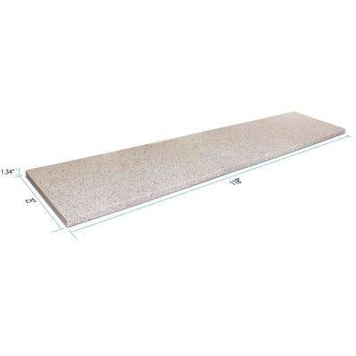9 ft. 10 in. Solid Surface Countertop in Poplar