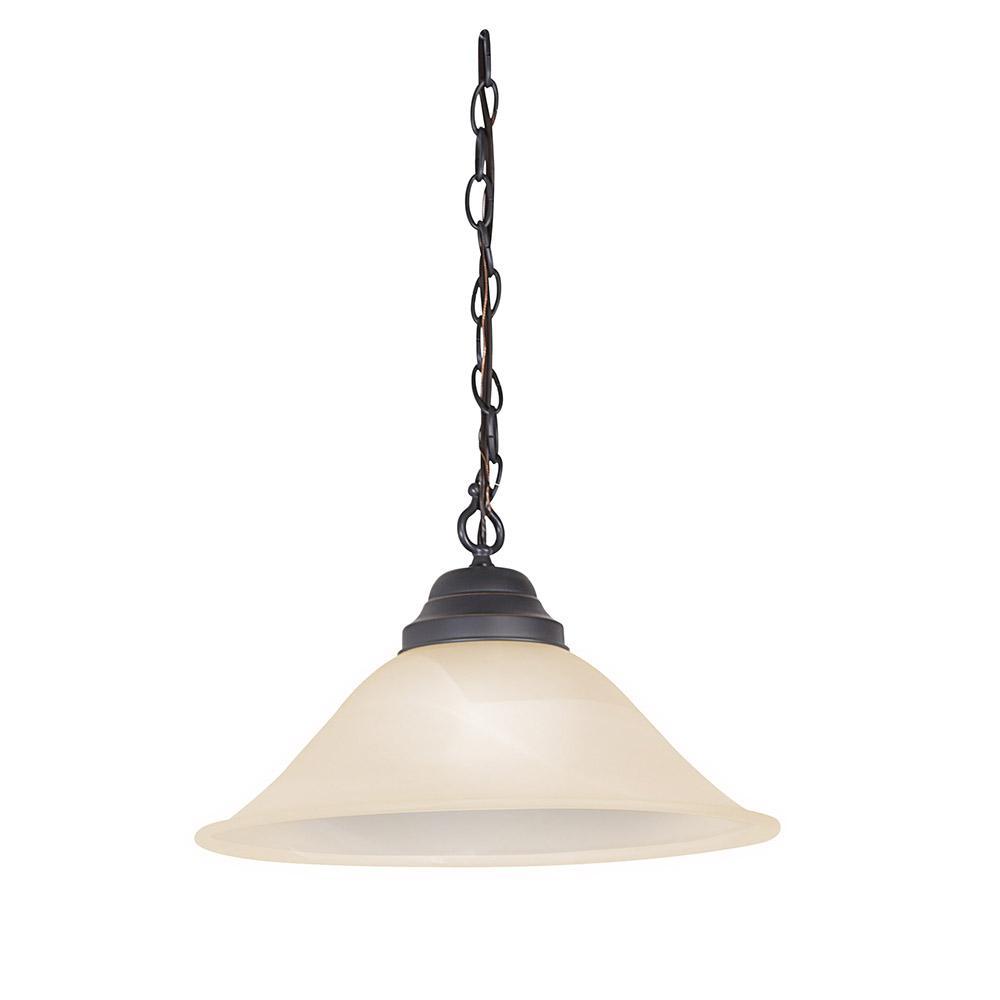 Millbridge 14-3/4 in. 1-Light Oil-Rubbed Bronze Swag Light