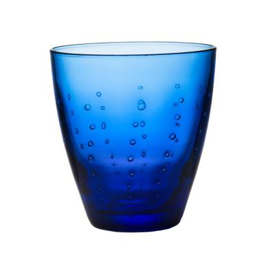Blue Raindrop Double Old Fashioned Glass