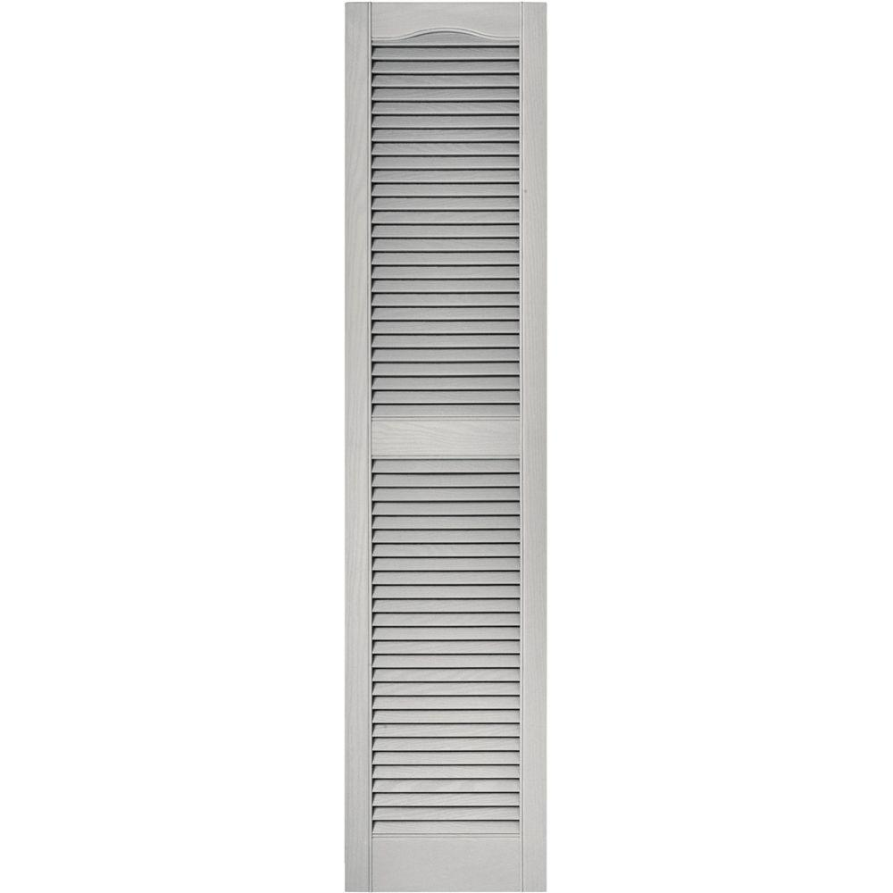 Ordinaire Louvered Vinyl Exterior Shutters Pair In #