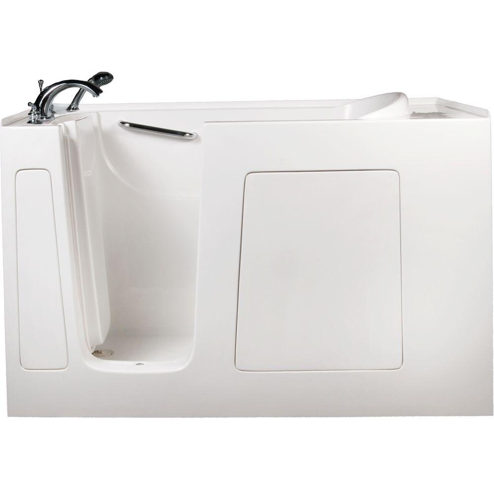Allure Walk In Tubs 5 ft. Left-Drain Walk-In Whirlpool and Air Bath Tub in White