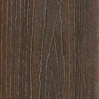 Refine 1 in. X 5-3/8 in. X 1/2 ft. Golden Teak Composite Decking Board Sample