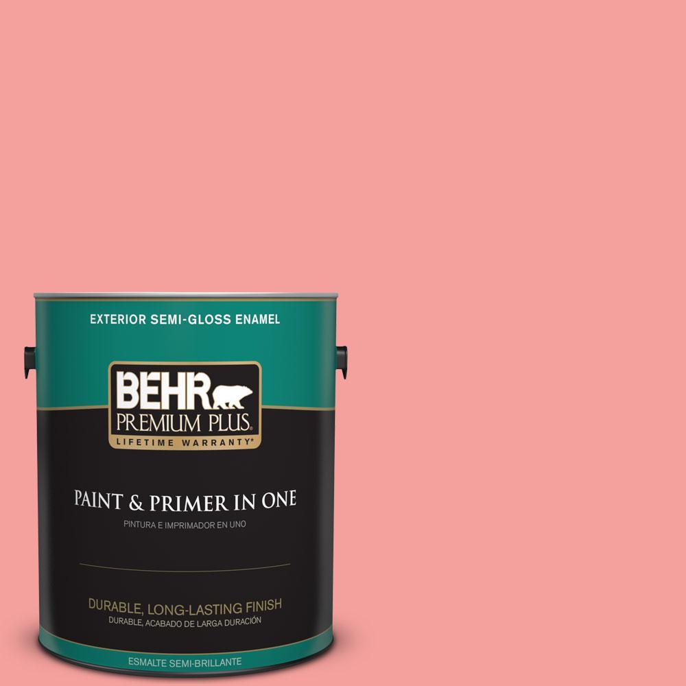 1-gal. #150B-4 Pink Eraser Semi-Gloss Enamel Exterior Paint