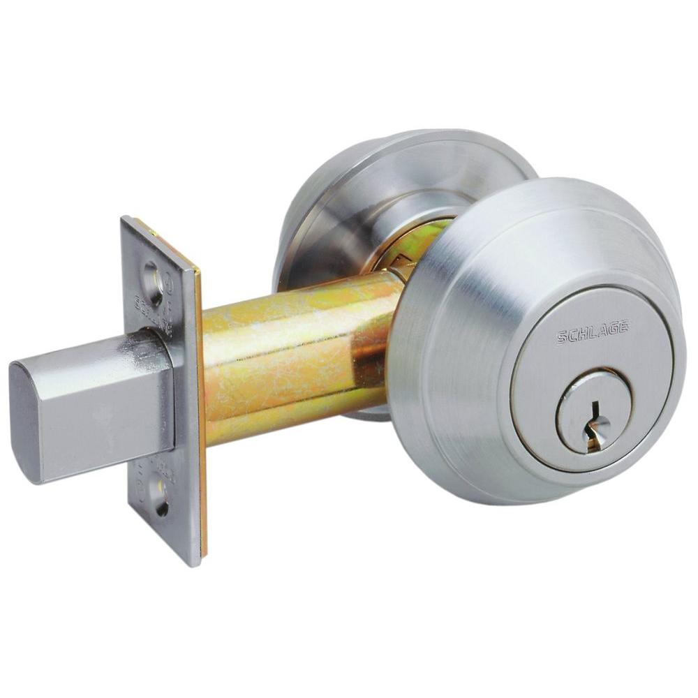 Schlage Medium Duty Commercial Double Cylinder Deadbolt in Satin Chrome-DISCONTINUED