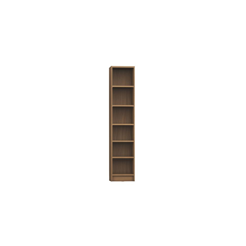 Manhattan Comfort Greenwich Maple Cream 6-Shelf Narrow Venti 1.0 Bookcase