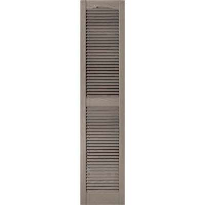 15 in. x 67 in. Louvered Vinyl Exterior Shutters Pair in #008 Clay