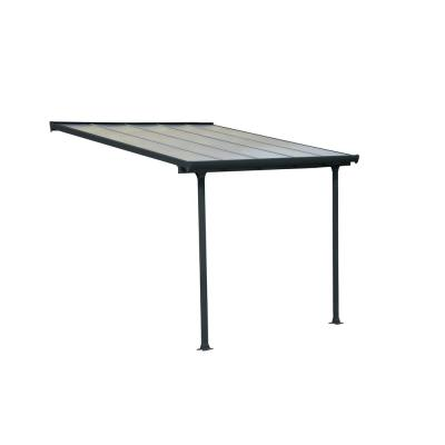 Feria 10 ft. x 10 ft. Grey Patio Cover Awning