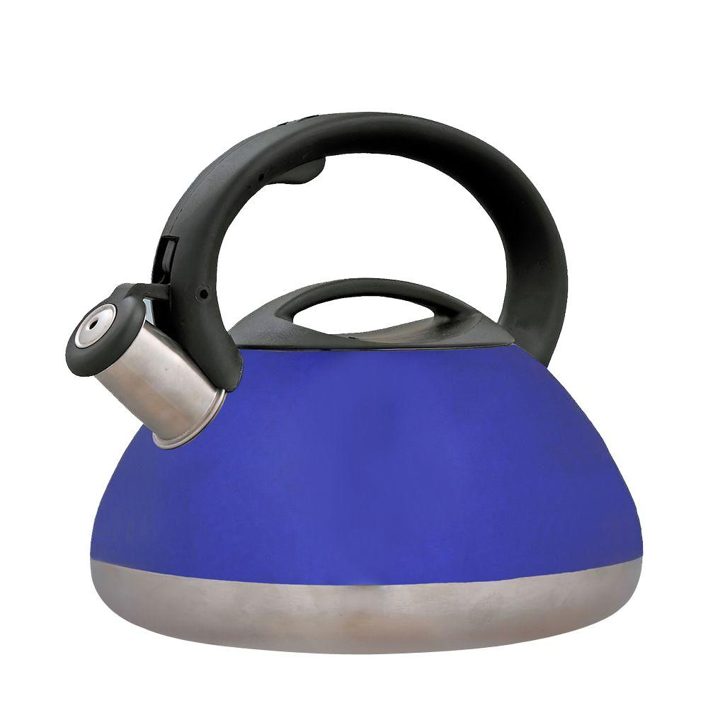 Creative Home Sphere 12-Cup Tea Kettle with Stainless Steel in Metallic Blue-DISCONTINUED