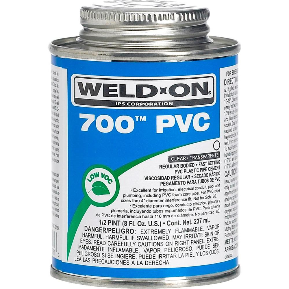 Weld-On PVC 700 8 oz. Low VOC Cement - Clear-10081 - The Home Depot