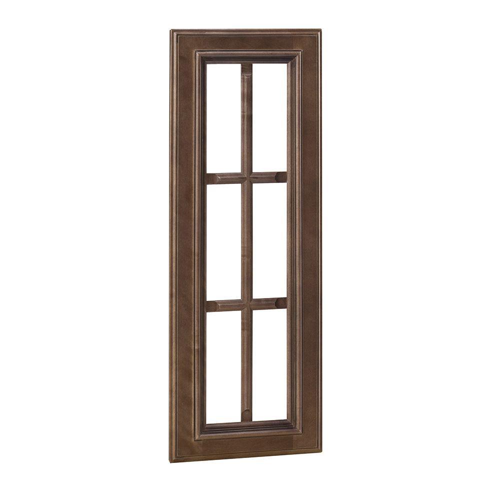Home Decorators Collection 12x30x.75 in. Mullion Door in Huntington Chocolate Glaze