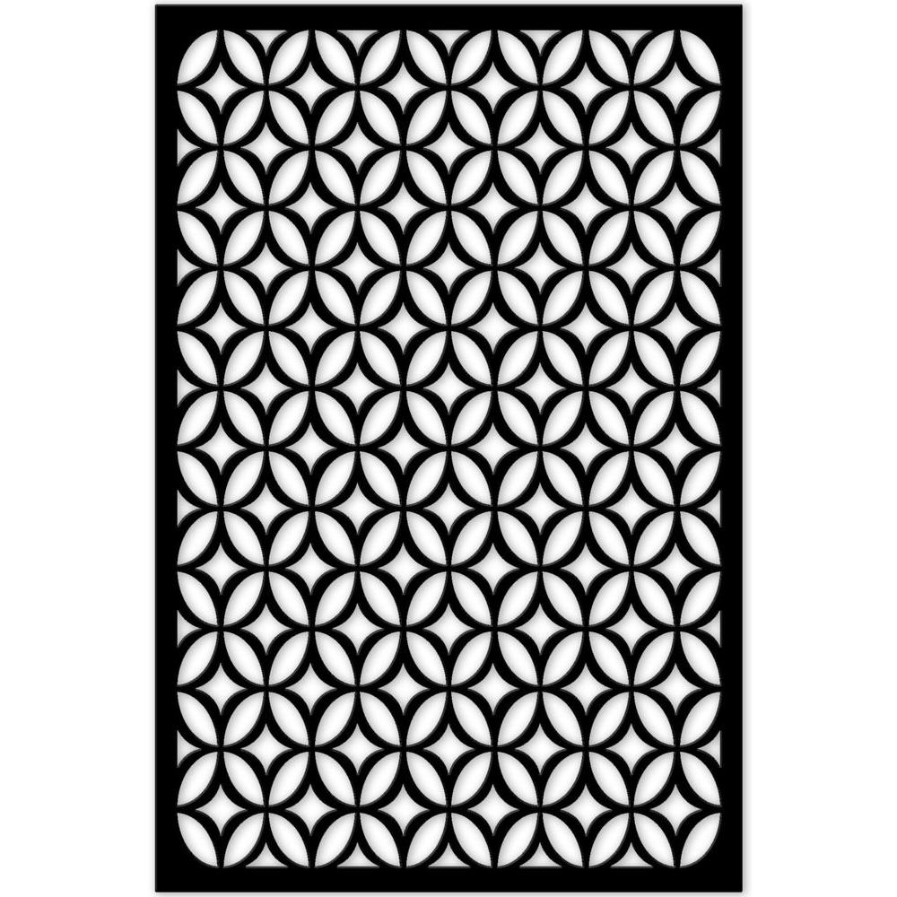 Acurio Latticeworks Moors Ellipses 32 In X 4 Ft Black