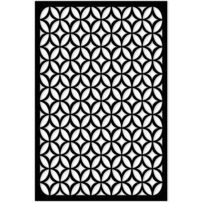 1/4 in. x 32 in. x 4 ft. Black Moors Ellipses Vinyl Decor Panel