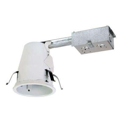 E26 4 in. Steel Recessed Lighting Housing for Remodel Ceiling, Non-IC, Air-Tite, Adjustable Socket Bracket