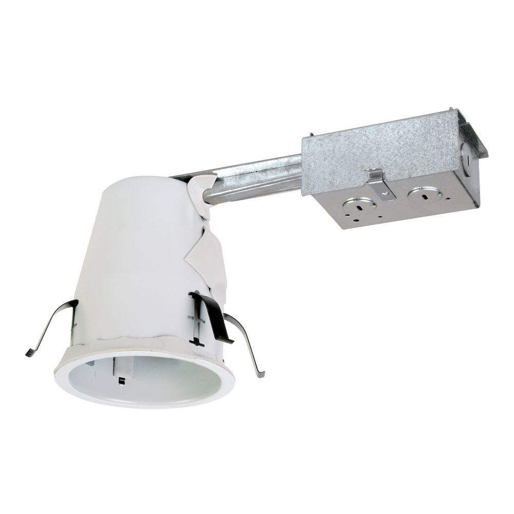 Halo E26 4 In Steel Recessed Lighting Housing For Remodel Ceiling Non Ic Air E Adjule Socket Bracket