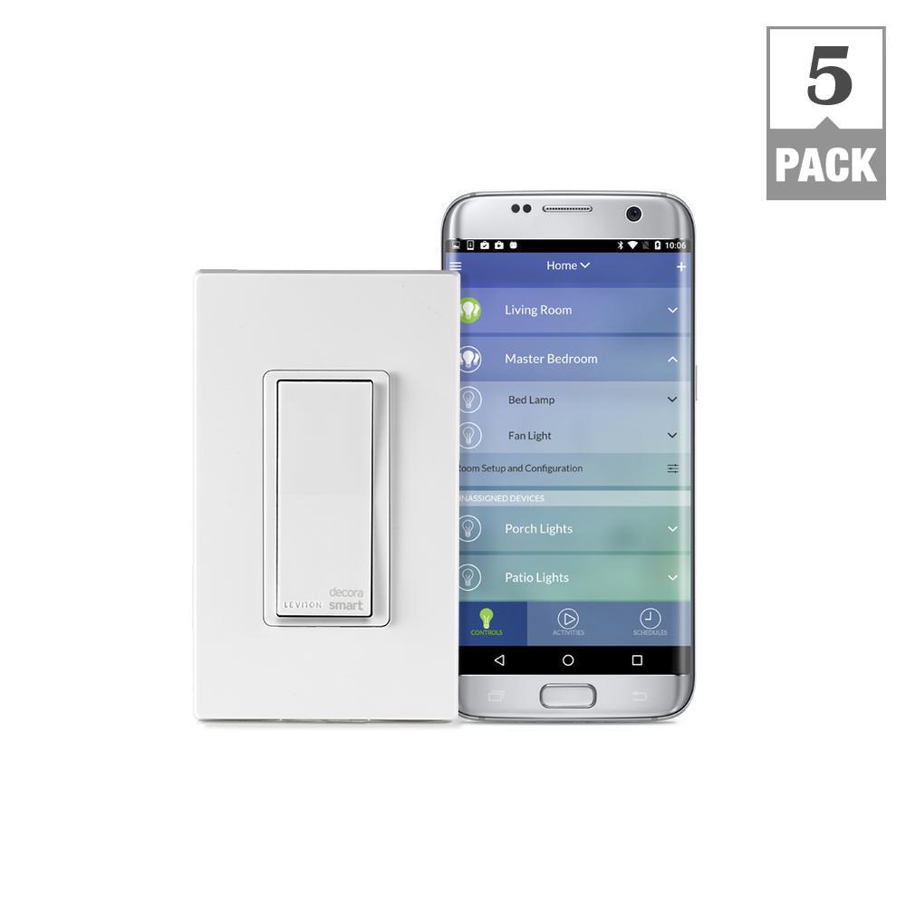 Leviton Decora Smart Wi-Fi 15 Amp Universal LED/Incandescent Switch ...