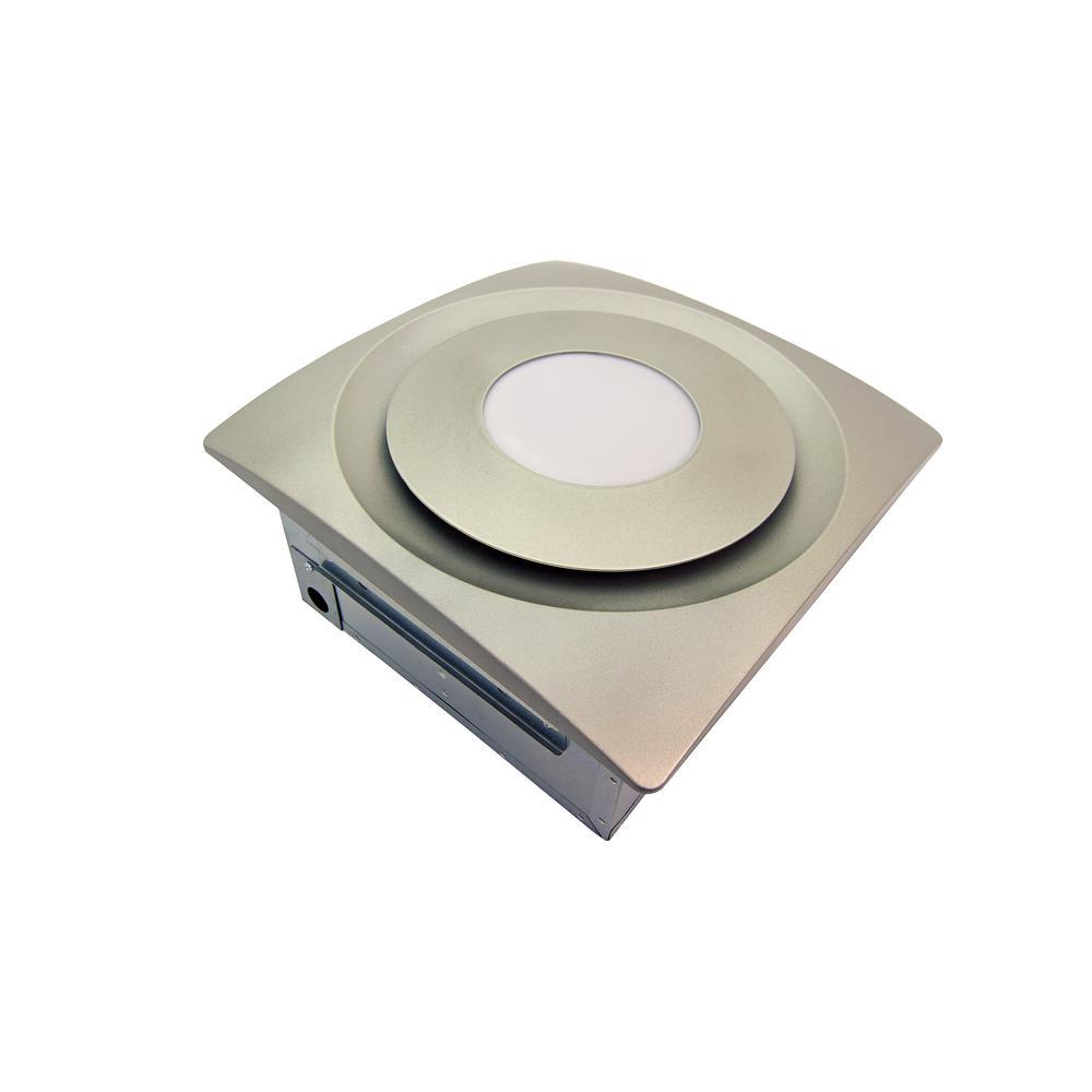 Quiet Bathroom Exhaust Fan | Aero Pure Slim Fit 120 Cfm Quiet Bathroom Exhaust Fan With 10 Watt 4000k Led Light Ceiling Or Wall Mount Satin Nickel