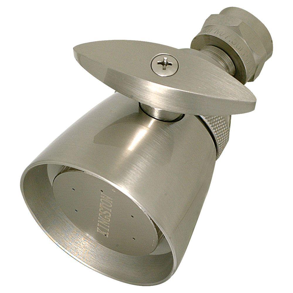 1-Spray 1-3/4 in. Showerhead in Brushed Nickel