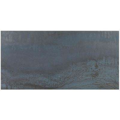 Metallic Dark Blue 12 In X 24 8mm Matte Porcelain Floor And Wall Tile 8 Pieces 15 49 Sq Ft Box