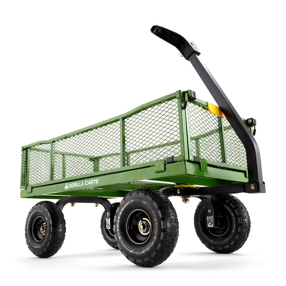 Gorilla Carts 4 cu. ft. Steel Utility Cart