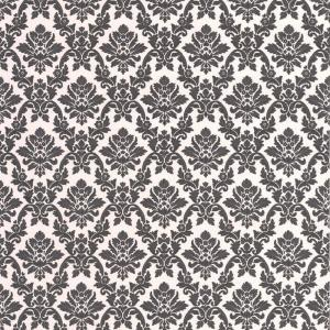 Damask Black And White Wallpaper Sample