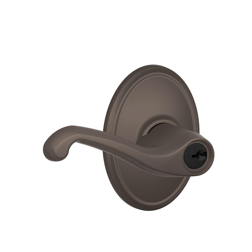 Schlage Flair Oil Rubbed Bronze Keyed Entry Door Lever