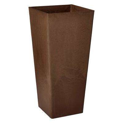 Contempo Tall Square 16 in. x 16 in. x 32 in. Chocolate PSW Pot