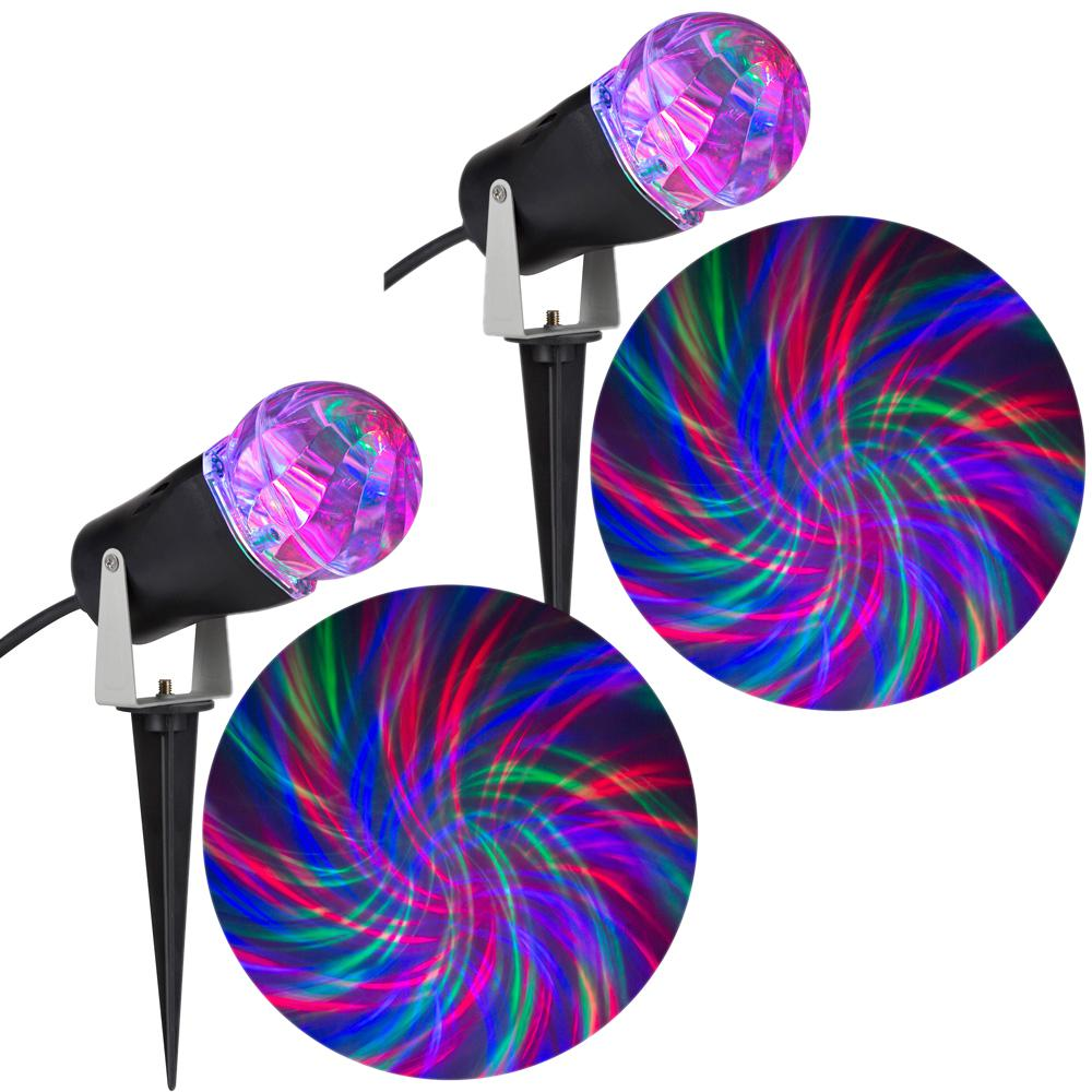 Holiday Light Show Projection Light Ribbon 2-Piece Combo ...