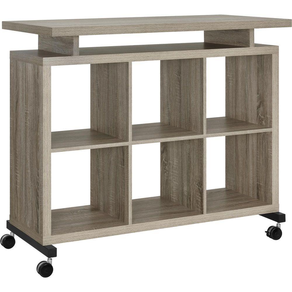 Ameriwood Pinnacle Sonoma Oak Standing Desk, Sonoma Oak F...