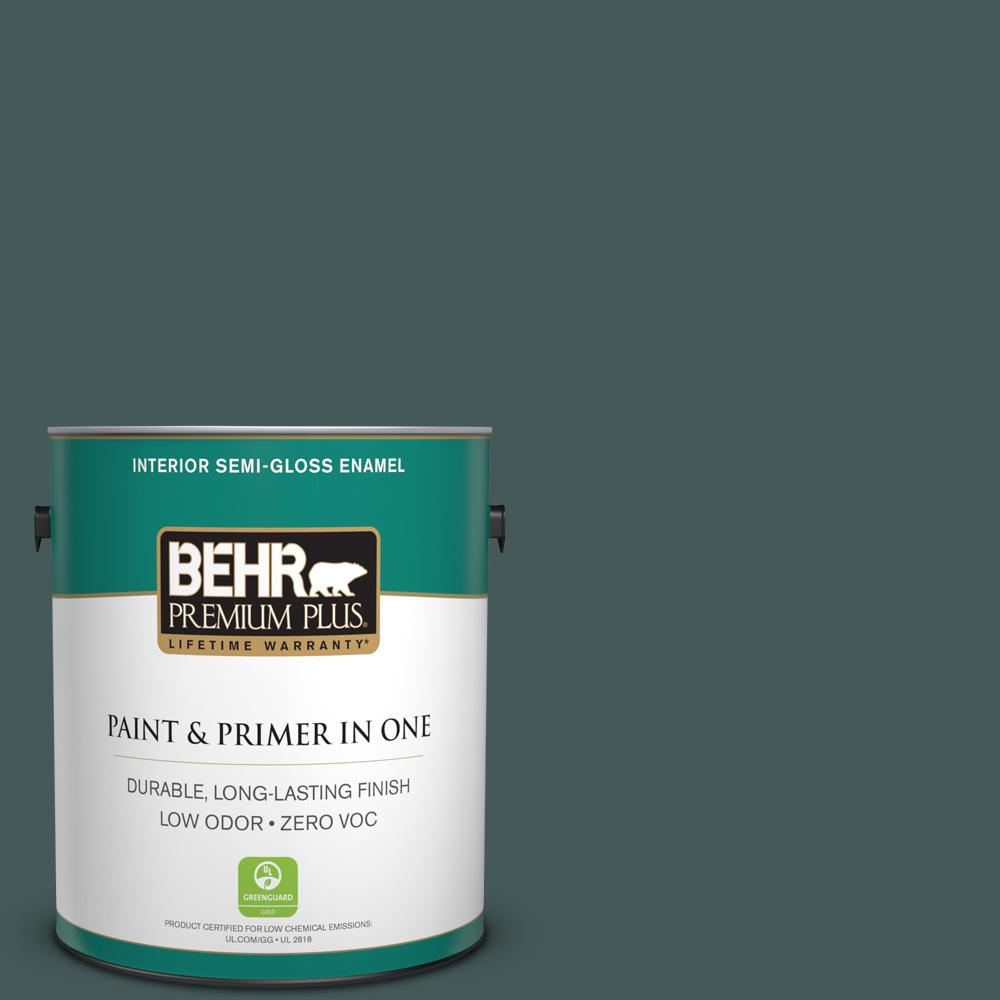 BEHR Premium Plus 1-gal. #N430-7 Silken Pine Semi-Gloss Enamel Interior Paint