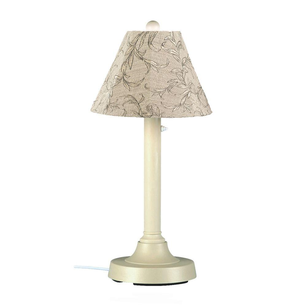 Patio Living Concepts San Juan 30 in. Bisque Outdoor Table Lamp with Bessemer Shade