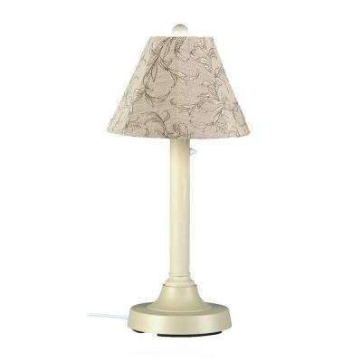 San Juan 30 in. Bisque Outdoor Table Lamp with Bessemer Shade