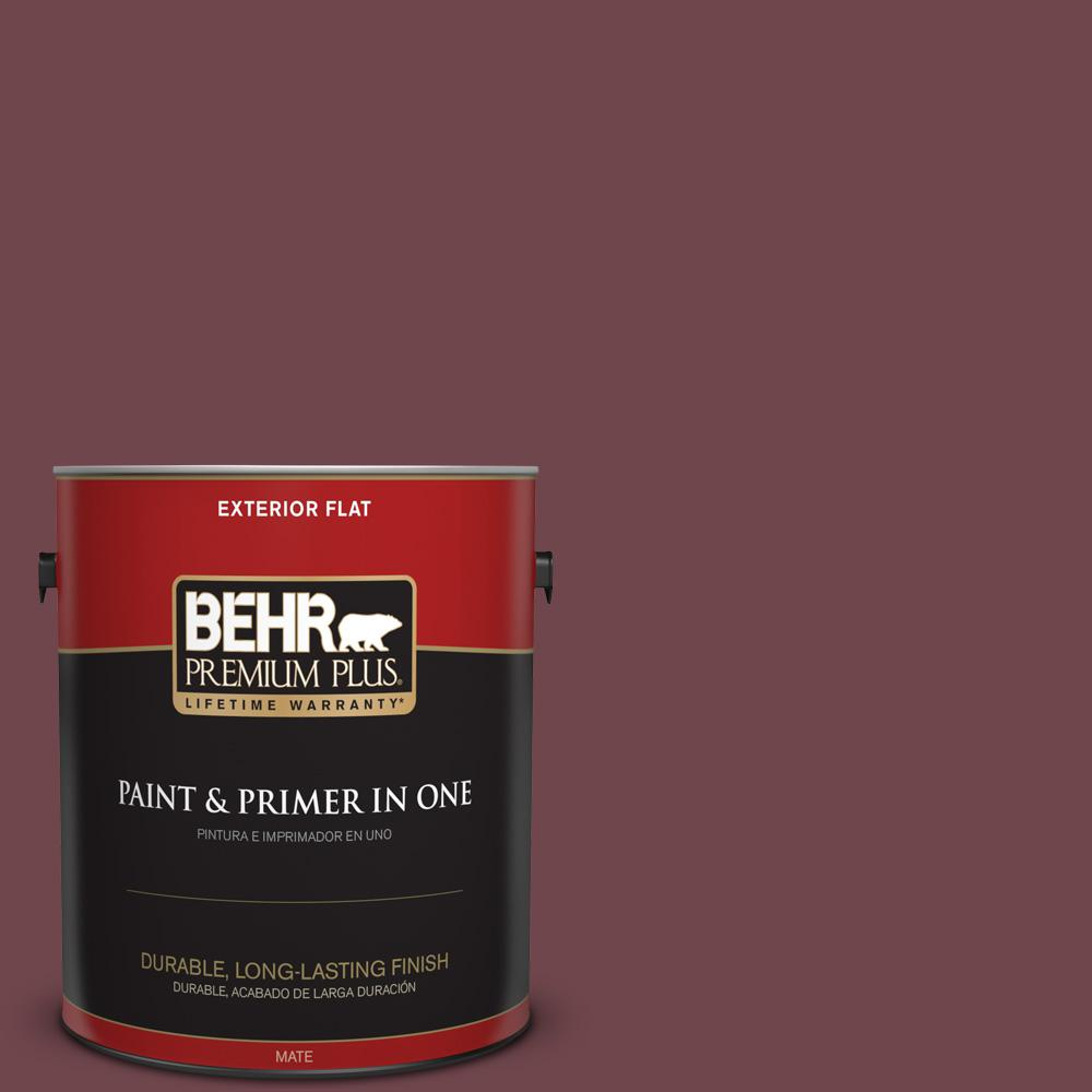 1 gal. #PPU1-14 Formal Maroon Flat Exterior Paint