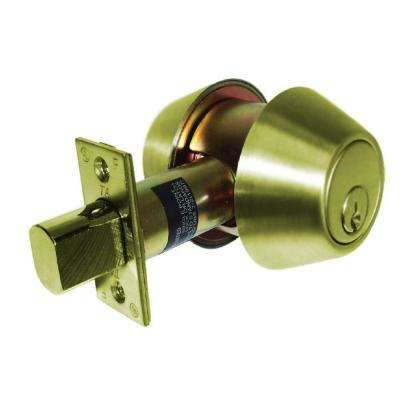 700 Series Grade 2 Bright Brass Double Cylinder Deadbolt