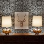 Mitchell Black ABRA Collection Stratos Dark Removable and Repositionable Wallpaper
