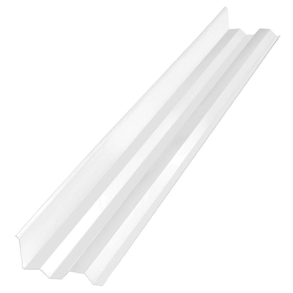 Suntuf 4 ft. White Opal Polycarbonate Side Ridge