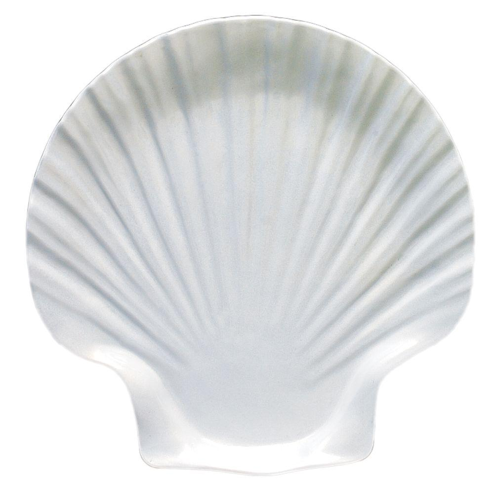 Restaurant Essentials Shell 9-1/4 in. x 9-5/8 in. Salad Plate in Shell (1-Piece)