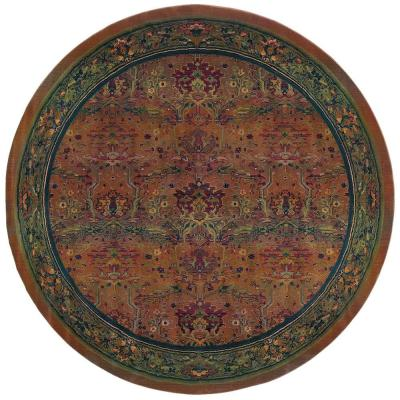 Peace Clay 6 ft. x 6 ft. Round Area Rug
