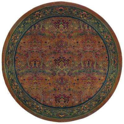 Peace Clay 8 ft. x 8 ft. Round Area Rug